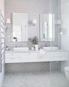 Who doesn't want to have stunning design of the master bathroom? The stunning design can be done not only in a spacious master bathroom but also in a small bathroom. You don't… Continue Reading → Bathroom Renos, Bathroom Flooring, Bathroom Interior, Bathroom Marble, Vanity Bathroom, Kitchen Interior, Bathroom Renovations, Bathroom Storage, Bathroom Towels