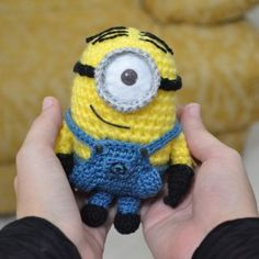 Be inspired by this fun roundup of minion crochet projects created by some very talented designers. Be inspired by this fun roundup of minion crochet projects created by some very talented designers. Crochet Crafts, Crochet Dolls, Yarn Crafts, Crochet Projects, Free Crochet, Knit Crochet, Minion Crochet Patterns, Minion Pattern, Amigurumi Patterns