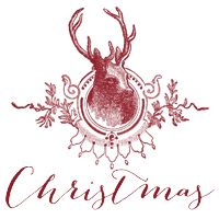 Deer Christmas Button, So cute blog button for Christmas from The Cutest Blog on the Block.