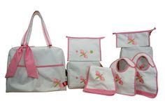 Coleccion libelula #maruzubiriadf #babygirl #baby #pink #babystuff #bag #laundry #bib #customizeyourlife #mynameonit