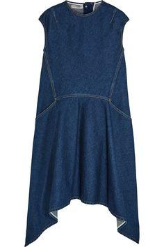 Dark-blue denim Button fastening at back 100% cotton Dry clean Designer wash…