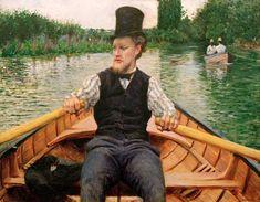 Titre de l'image : Gustave Caillebotte - Rower with top hat