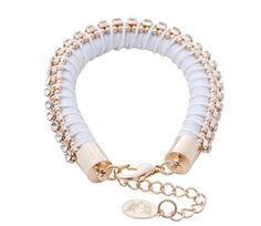 White Rubbing Shoulders bracelet by 8 Other Reasons - $34