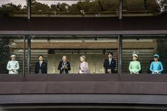 Emperor of Japan and his family (heisei era), greeting crowds of well-wishers, Emperor's 80th birthday, Dec 23, 2013