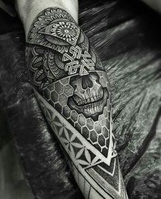 Geometric sleeve geometric mandala and geometric mandala tattoo to use and take to your artist. Tattoos Bein, Body Art Tattoos, Sleeve Tattoos, Cool Tattoos, Maori Tattoos, Octopus Tattoos, Forearm Tattoos, Tattos, Tattoo Sleeves
