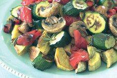 Rosemary roast vegetable salad with balsamic dressing recipe, NZ Womans Weekly – visit Eat Well for New Zealand recipes using local ingredients - Eat Well (formerly Bite) Roasted Vegetable Salad, Roasted Vegetables, Salad With Balsamic Dressing, Great Vegan Recipes, Food Hub, Dressing Recipe, Recipe Using, Cooking Time, Stuffed Peppers