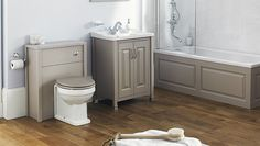 Old London Stone Grey bathroom