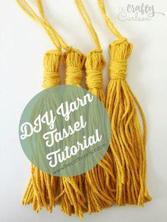 DIY Yarn Tassel Tutorial! Made using a FORK!