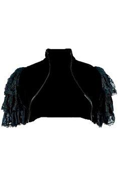 SPIRAL DIRECT SWEET DREAMS LS  Goth Sleeve Textured BolERO //Top//Dragon//Goth//Bats