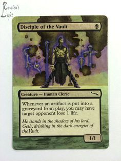 Disciple of the Vault - MTG Alter - Revelen's Light Altered Art Magic Card