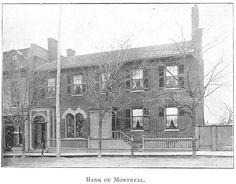 Bank of Montreal, Goderich, Ontario c.1897 #Goderich #RediscoverGoderich #VintageGoderich