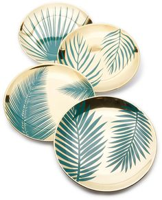 Gift Boutique Botanical Plates Set