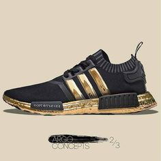 ADIDAS NMD GOLD CONCEPT Best Sneakers, Custom Sneakers, Custom Shoes, Shoes Sneakers, Adidas Sneakers, Yeezy Shoes, I Love My Shoes, Me Too Shoes, Mens Fashion Shoes