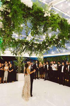 lush foliage suspended wedding dancefloor decoration ideas