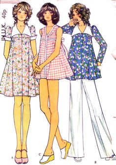 1970's maternity dress swimsuit top pants. Vintage sewing pattern. £4.00 https://www.etsy.com/listing/152957049/70s-maternity-dress-swimsuit-top-pants