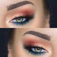 31 Pretty Eye Makeup Looks for Green Eyes: #11. FUN MAKEUP LOOK FOR SUMMER