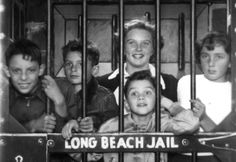 Pre Disneyland Days in 1951 at the Long Beach Pike Jail birds