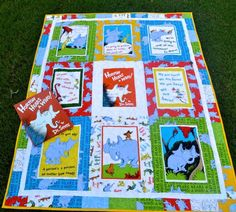 Image result for baby quilt with dr seuss horton hears a who quilt squares