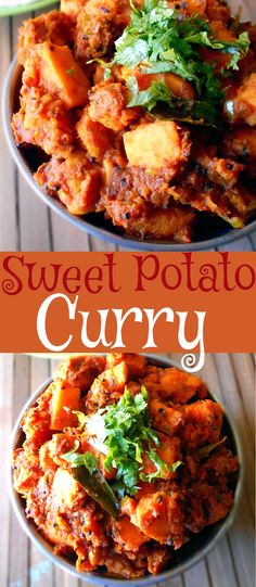 This sweet potato curry is very easy to make.  For easy weeknight meals, try this vegan sweet potato curry.  Add chick peas for additional flavor and protein