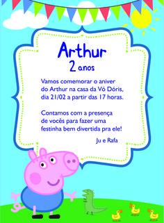 Aniversário de 2 anos do Arthur com o tema Jorge Pig