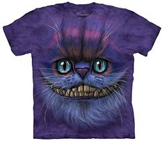 The Mountain Cotton Bf Cheshire Cat Design Novelty Adult T-Shirt (Purple  L)