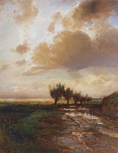 «Проселок» 1873.  Саврасов Алексей Кондратьевич (1830-1897)