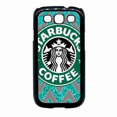 Starbucks Coffee Chevron Glitter Samsung Galaxy S3 Case