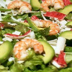 Platos Latinos, Blog de Recetas, Receta de Cocina Tipica, Comida Tipica, Postres Latinos: Recetario para Diabeticos, Ensalada Tropicana con Gambas