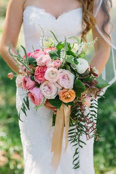 leo carrillo ranch wedding, joielala photography, flowers by Plenty of Petals, San Diego wedding florist. bouquets with garden roses, dahlias and eucalyptus Diy Wedding Bouquet, Boho Wedding, Floral Wedding, Pink Bouquet, Floral Bouquets, Bridal Bouquets, Bridal Flowers, Wedding Photos, Wedding Ideas