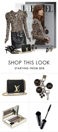 """""""Louis Vuitton FW 2015/16"""" by sella103 ❤ liked on Polyvore featuring Louis Vuitton, Clarins and Shiseido"""