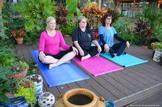 A yoga garden for wellness