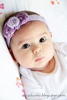DIY headbands made from old baby clothes!