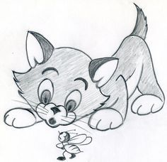 How To Draw Cartoon Kitten Easily And Effortlessly in Few Simple ...
