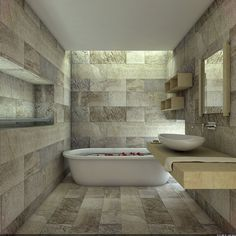 Image result for natural stone bathrooms designs