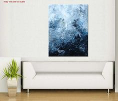ELENA large abstract painting original abstract by ElenasArtStudio, $309.00