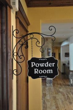 Guest Room Sign Decor Magnificent Metal Sign  Powder Room Sign Welcome Sign Guest Room Sign 2018