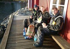 Dan and Manu and Eduardo, lunch at Norderöbrygga 16 november.