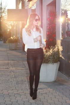 Leather Shorts & Tights