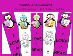 Valentine's Day Free   *Also Check Out!* Valentine's Day-Learning Cube, Roll, Graph and Count  February Math of the Month  February Poetry Searches     Valentine's Day themed book marks. One set comes in black and white for coloring.    All I ask is please take a moment to leave a rating and follow me for more freebies!