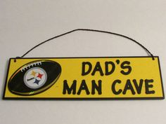 Personalized Nfl Man Cave Signs : Pittsburgh steelers necklace great gift ideas pinterest