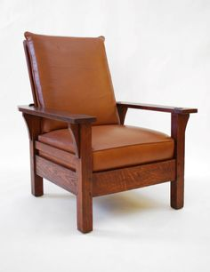L & Jg Stickley Morris Chair, C. 1915, Arts & Crafts- Mission Era
