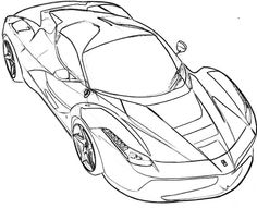 Ferrari on ferrari f40 coloring pages