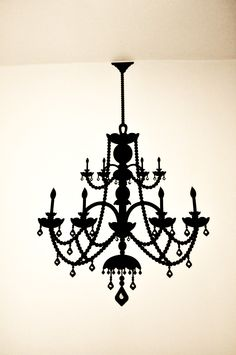 black chandelier decal~~I WANT THIS!