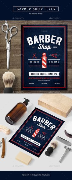 Barber Shop Flyer Template PSD. Download here: http://graphicriver.net/item/barber-shop-flyer/15227032?ref=ksioks