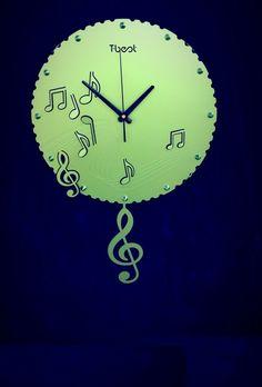 Fancy Music Tebest Wall Clock  www.fashiongroop.com