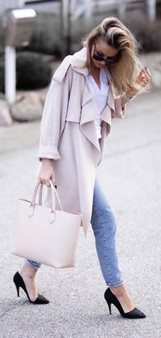 Blush Trench Outfit Idea