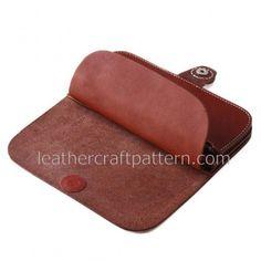 шаблоны кожаный бумажник долго узоры бумажник PDF скачать, LWP-01, кожаные искусство кожаные узоры ремесла модели Уроки для рук сшитые модели