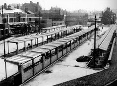 Walsall Bus Station under construction, 1935 Walsall, Birmingham Uk, Bus Station, West Midlands, City Buildings, Under Construction, Route 66, Public Transport, Old Pictures