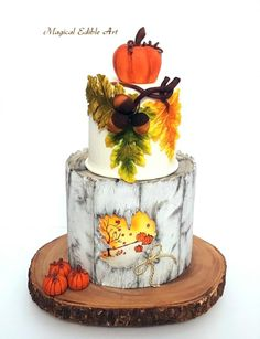 Autumn-Inspired Cake by Nadia
