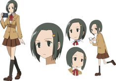 Hata Ranko, the head of the school's newspaper club. She likes to take photos of the student council members to sell around the school, usually without the permission of those being photographed,Ch. 1, 7 and she often gets caught. When she conducts an interview, she likes to twist the responses to something dirty or perverted, with Tsuda as a frequent target